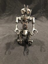 "Handcrafted Found Art Johnny 5 Size: 6""H x 5""D x 3""W Weight: 2.0 lbs"