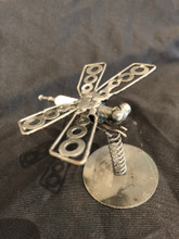 Handcrafted Found Art  Dragonfly  3 X 2 X 3