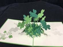 Handmade 3D Kirigami Card St Patrick's Day Clover Style may vary