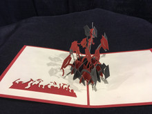 Handmade 3D Kirigami Card Graduation Style and colors may vary