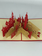 Handmade 3D Kirigami Card  with envelope  Hong Kong China