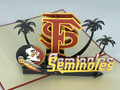 Handmade 3D Kirigami Card  with envelope  FSU Florida State University