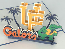 Handmade 3D Kirigami Card  with envelope  US University of Florida