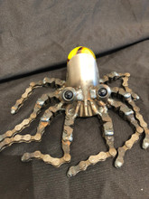 Handcrafted Found Art  Octopus Squid  8 x 7 x 3  Marble may vary