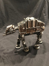 """Handcrafted Found Art  ATAT Star Wars    Size: 7""""H x 8""""D x 2.5""""W  Weight: 3.0 lbs"""
