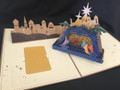Handmade 3D Kirigami Card  Nativity Tan