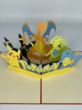 Handmade 3D Kirigami Card  with envelope  Pokemon Pack