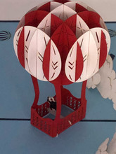 Handmade 3D Kirigami Card  with envelope  Balloon