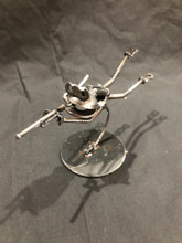 Handcrafted Found Art  Scuba Diving Spear Fishing Frog  6 x 4 x 3