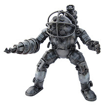 """Handcrafted Found Art  Big Daddy from Bioshock  Size: 10.5""""H x 6""""D x 8.5""""W  Weight: 6.0 lbs Positions may vary"""