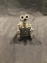"Small Wall-e  Walle    Handcrafted Found Art    Size: 3.5""H x 3""D x 2.5""W  Weight: 0.3 lbs"