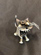 Handcrafted Found Art  Gear Cat    4x3x2.75