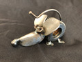 Handcrafted Found Art   Gear Mouse  4x3x3