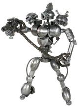 HANDCRAFTED FOUND ART ROBOT III H 12 1/2 W 9 D 8