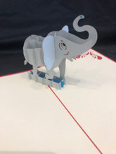 Handmade 3D Kirigami Card  Elephant  with envelope