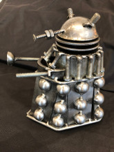 Handcrafted Found Art  Dr Who Large Dalek  7 x 6 x 3   Moving Parts: Head