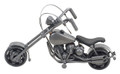 HANDCRAFTED FOUND ART CHOPPER 2C L 7 H 4 W 2 1/2 FREE SHIPPING CUSTOM MOTORCYCLE AND CHOPPERS