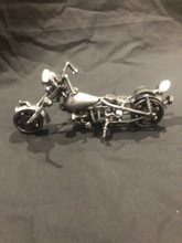 Handcrafted Found Art  Motorcycle ISP  7 1/2 x 4 x 2 1/2