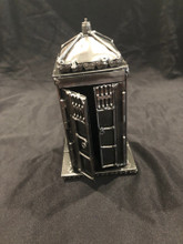 "Large Tardis Dr Who Size: 8""H x 4""D x 4""W Weight: 3.0 lbs Moving Parts: Two doors can open"