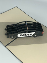 Handmade 3D Kirigami Card  with envelope  Police Car Law Enforcement