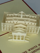 Handmade 3D Kirigami Card  with envelope  White House Washington DC