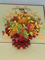 Handmade 3D Kirigami Card  with envelope  Fall Flowers