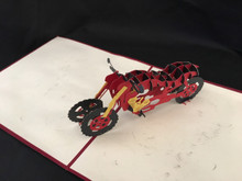 Motorcycle Handmade 3D Kirigami Card