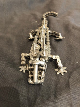 Handcrafted Found Art  Crocodile Aligator  7 x 3 x 1