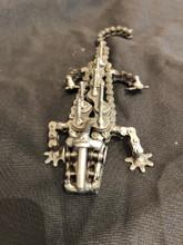 Handcrafted Found Art  Crocodile Aligator  7 x 3 x 1