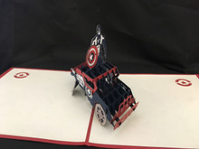 Captain America Handmade 3D Kirigami Card