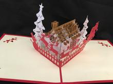Christmas Eve Handmade 3D Kirigami Card