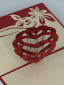 Handmade 3D Kirigami Card  with envelope  Valentine's Day Heart