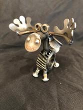 Handcrafted Found Art  Gear Moose  3 x 3 x 2