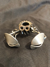 Handcrafted Found Art   Gear Crab  3x2x3