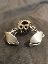 Handcrafted Found Art   Gear Crab  3x2x3