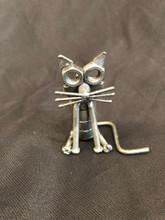 Handcrafated Found Art  Cat  3x3x2