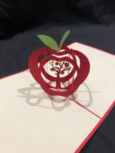 Apple Handmade 3D Kirigami Card