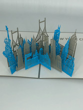 Handmade 3D Kirigami Card  with envelope  New York City NYC