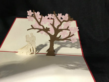 Handmade 3D Kirigami Card  Wedding Tree