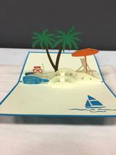 Handmade 3D Kirigami Card Beach