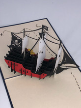 Handmade 3D Kirigami Card  with envelope  Pirate Ship  Styles May Vary