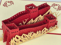 Handmade 3D Kirigami Card  with envelope  Great Wall of China