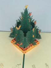 Handmade 3D Kirigami Card  with envelope  Christmas Tree 1