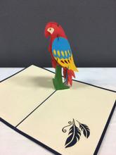 Handmade 3D Kirigami Card Parrot