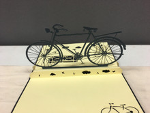 Handmade 3D Kirigami Card Bike