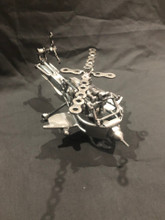 Handcrafted Found Art  Apache Helicopter  10 x 5 x 3