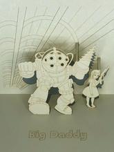 Handmade 3D Kirigami Card  with envelope  Big Daddy Bioshock