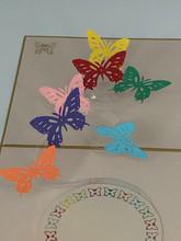 Handmade 3D Kirigami Card  with envelope  Butteflies