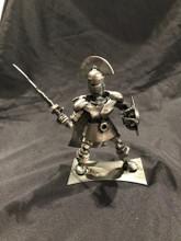 Handcrafted Found Art  Spartan Warrior Throw  6 x 7 x 3.5