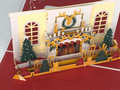 Handmade 3D Kirigami Card  with envelope  White Christmas Fireplace